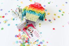 Mini Pinatas by Carissa Wiley for We R Memory Keepers Pinata Cupcakes, Mini Cupcakes, Magic Party, Paper Crafts, Diy Crafts, We R Memory Keepers, American Crafts, Diy Party, Ideas Para