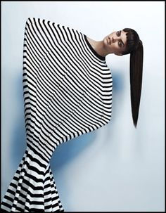#photography #fashion #stripes by ruven afanador