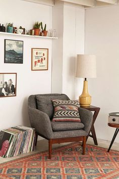 Sterling Table Lamp - Urban Outfitters. Perfect for that masculine reading corner!