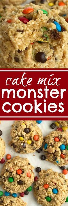 Cake Mix Monster Cookies