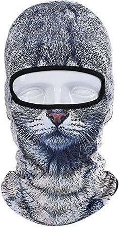 85c2a17b620 Betwoo Polyester Animal Balaclava Hood Full Face Mask Hats for Motorcycle  Cycling Cat 1
