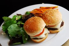Light Beef Sliders  What a fun and tasty way to get more bang for your buck in these mini cheeseburger sliders. Juicy, delicious and just ...