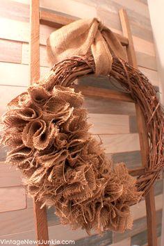 Fall Burlap Wreath {Video Tutorial}