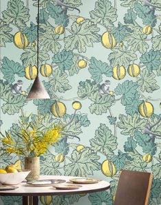 Frutto Proibito Wallpaper from Fornasetti collection from Cole and Son. Frutto Proibito gloriously combines different archival Fornasetti motifs from the and Fornasetti Wallpaper, Piero Fornasetti, Tropical Wallpaper, Botanical Wallpaper, Farrow Ball, Cole Son, Cole And Son Wallpaper, Wallpaper Warehouse, Luxury Houses