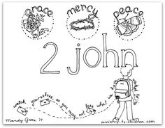 This Free Coloring Page Is Based On The Book Of 1 John Its One Part Our Series Illustrations For Each Individual Bible