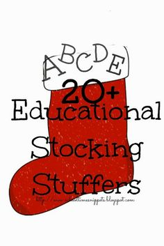 School Time Snippets: Educational Stocking Stuffers! Pinned by SOS Inc. Resources. Follow all our boards at pinterest.com/sostherapy for therapy resources.