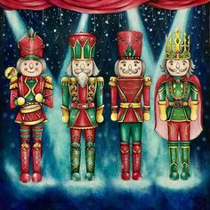 Nutcrackers from Johanna Basford
