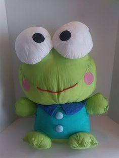 VTG 20  Sanrio Keroppi Plush Nylon 1990s 90s 1995 With Tag Frog Stuffed Animal