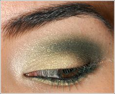 Love this! Army green eyeshadow paired with army green mascara.