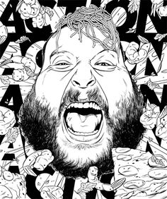 Action Bronson by Cun Shi, via Behance
