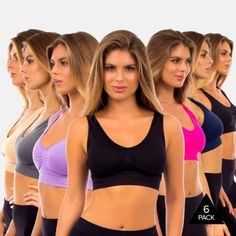 6 Pack Seamless Sports Bra with Removable Padding - $19.99. https://www.tanga.com/deals/205dd17d3e47/6-pack-seamless-sports-bra-with-removable-padding