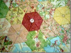 hexagons using the Japanese folding technique.