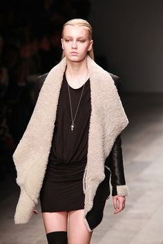 AMINAKA WILMONT, AW11: shearling drape cuff out of your mind.