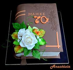 Dort marcipánový * k narozeninám - kniha s růží.