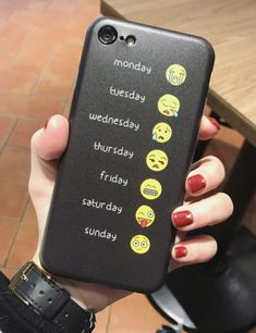 Emoji iPhone 7 or iPhone 6 Cases - A different cute emoji face for each day of the week. Cool social media and texting humor phone case. Funny gift for someone who loves text messaging or connecting with friends on social media networks. Hot Funny Emoji Face Collection Phone Case for iPhone - This is an affiliate link. #iphone7case,