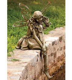 Garden statues for every style. Choose metal garden art, fountains, animal statues, fairies, dragons and more. Many garden sculptures feature solar lights. Fairy Statues, Garden Statues, Garden Sculpture, Fairy Figurines, Forest Fairy, Fairy Land, Outdoor Statues, Garden Ornaments, Fairy Houses