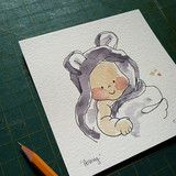 Custom Mini Watercolor Portrait