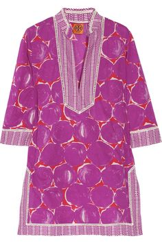 Tory Burch|Printed cotton-voile tunic|NET-A-PORTER.COM