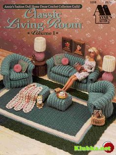 crochet dolls house for Barbie, haha I love it