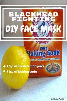 lemon baking soda face mask