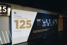 Crossroads Church used our backdrop to celebrate 125 years in ministry! Fabric Backdrop, Banner Backdrop, Backdrop Design, Banner Design, Church Interior Design, Church Stage Design, Signage Board, Wayfinding Signage, Environmental Graphics