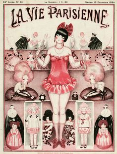 """La Vie Parisienne - Magazine Cover from Picture by Advertising Archives buy now as poster, art print and greeting card. Art Deco Illustration, Vintage Illustrations, French Magazine, Magazine Art, Magazine Covers, Vintage Posters, Vintage Art, French Posters, Kunst Poster"