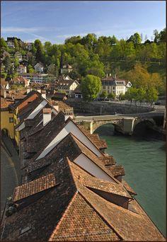 Old Bern and the Aare - Bern, Switzerland Copyright: Izzet Keribar