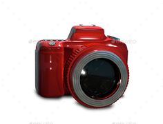 Red camera by brux Red camera Illustration red camera on a white background JPEG 56404231, PNG 56404231, PSD Created in 3ds max