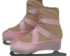 Ballet Slipper Skate Boot Covers / Figure Skating by Ballet Class, Spirit Wear, Figure Skating Dresses, Pointe Shoes, Roller Derby, Roller Skating, Dance Dresses, Ugg Boots, Skate
