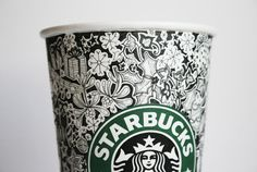 Creative Starbucks Cup Sketches by Johanna Basford