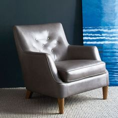 Livingston Leather Club Chair | West Elm