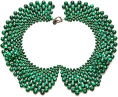 Masterpeace Malachite Bead Czar Collar Necklace on shopstyle.com  $345 (made in Russia)