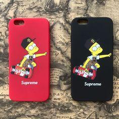 ザ・シンプソンズsupremeシュプリームiPhone7/7s/8 plusケースで、レッド赤色の薄型のブランドキャラクターiPhone6s plusカバーで、超キュートです。