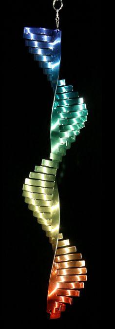 Wave Rainbow Spiral Art Wind Spinner