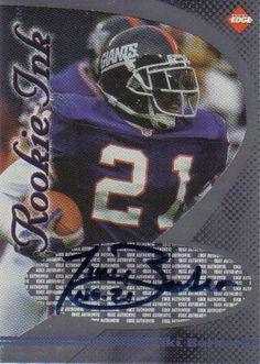 tiki barber football card | ... rookie football card tiki barber autographed rookie football card