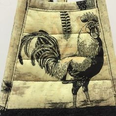 Rooster Dish Towel - Rooster Towel - Rooster Decor - Farm Decor - Chicken - Tea Towel - Country Kitchen -Black Towel-Farmhouse - Handmade by thestuffedcat on Etsy