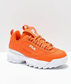 new style e1fa9 8900a FILA Disruptor 2-  64.95 Orange Nike Shoes, Orange Trainers, Orange  Sneakers, Cute