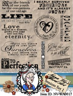 Seniors Set 1 Word Art, Sentiments, Photography Overlay, Clipart, Instant Download, Digital Stamps, Digi, ID:NV-WA0017 By Nana Vic