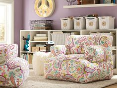 I love the PBteen Stack Me Up Paisley Lounge on pbteen.com