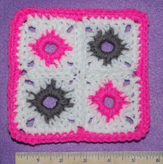 CAL Afghan Square Free Crochet Pattern by CrochetNMore