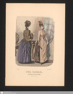 383 - Illustration Der Bazar, Illustrirte Damen-Zeitung. October 1887. - Der Bazar - Page - Digitale Sammlungen - Digital Collections