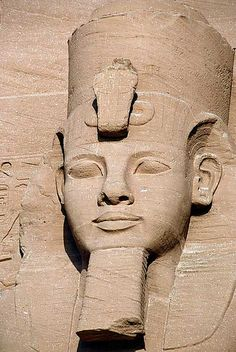Face of Rameses II, Abu Simbel, Egypt by off2africa, via Flickr