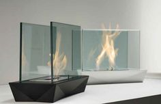 Modern Fireplace Design by Acquaefuoco