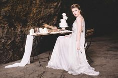 Ocean cave ballet themed wedding ideas | Captured By Keryn | see more on: http://burnettsboards.com/2016/02/dramatic-romantic-ocean-cave-ballet/