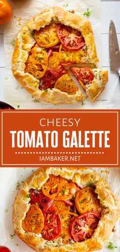 Anyone can make Tomato Galette this summer! The most delicious buttery crust is loaded with flavor from the perfect combination of a cheese and vegetable filling. This dinner idea is enough to satisfy everyone! Save this rustic style recipe and try it in summer! Supper Recipes, Side Dish Recipes, Easy Dinner Recipes, Easy Meals, Weeknight Meals, Brunch Recipes, Dinner Ideas, Fresh Tomato Recipes, Tomato Pie