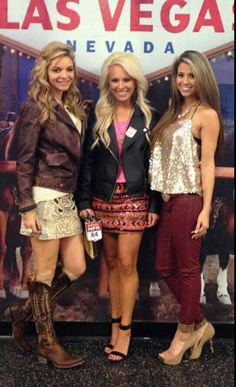 Tiffany, Tuffs girlfriend, megan, and stephanie. The women of professional rodeo know how to make their men proud.