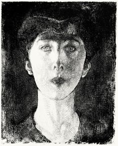 Elisabeth, Queen of the Belgians (1917)  Albert Besnard, From Les eaux-fortes de Besnard (The etchings of Besnard), by André-Charles Coppier, Paris, 1920.