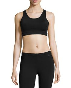 Shop Mesh-Trim Sports Bra, Black from So Low at Neiman Marcus Last Call, where you'll save as much as on designer fashions. Gym Essentials, New Fashion, Womens Fashion, Last Call, Clearance Sale, Neiman Marcus, Gym Shorts Womens, Underwear, Mesh