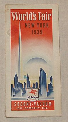 1939 Mobil Gas World S Fair Road Map Of New York