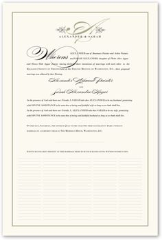 Quaker Justified Wedding Certificates